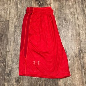 "Under Armour Red Raid Shorts Large 10"" Inseam"